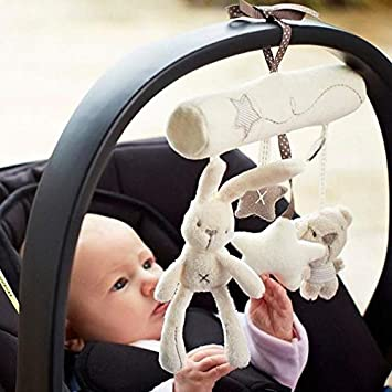 Baby Car Seat Toy Hanging Cribs Rattle Toy Rabbit Star Musical Baby