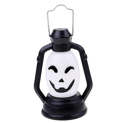 Baoblaze Farol Linterna DEE Batería Adornos Haloween Colgandos Calabezas Máscara de Fantasma Jack O Lantern -