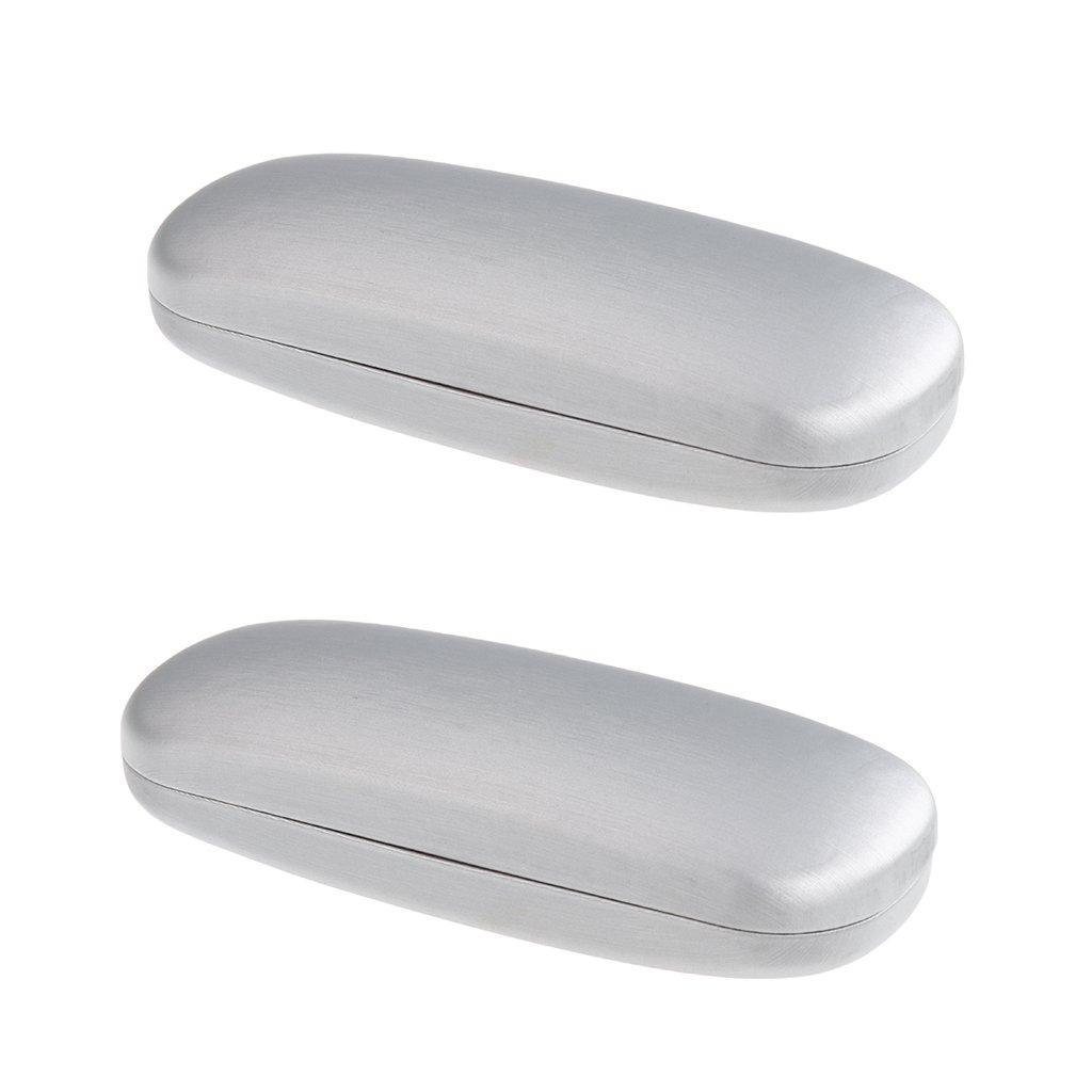 Baoblaze 2x Uomo Custodia Rigida per Occhiali Da Sole Superficie In Pelle PU Squisita Fattura