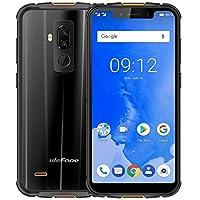 ULEFONE ARMOR 5 - 5.85pouces HD+ (19:9 Plein Ecran )IP68 Portable Smartphone au dehors, étanche / anti-poussière/ antichoc, Quad-Core 2.0GHz 4 Go de RAM + ROM de 64 Go, 5000mAh batterie Charge rapide, Dual 4G LTE/NFC/Dual SIM/Android 8.1/empreintes digitales ID+face ID - Noir
