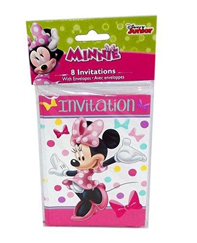 Minnie Mouse Bowtique Party Invitations, 8 Count ()