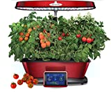 Aerogarden Bounty Elite Red Stainless Indoor Garden with Cherry Tomato Kit