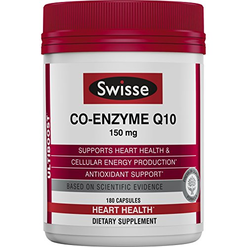 Swisse Ultiboost CoQ10 Co-Enzyme Q10 | Antioxidant for Heart Health, Energy Production| 150 mg, 180 Tablets (Best Q10 Supplement Australia)