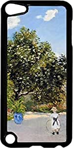 Monet-The Artists House at Argenteuil-Jean with a Hoop- Case for the Apple Ipod 5th Generation-Hard Black Plastic