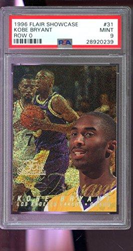 (1996-97 Fleer Flair Showcase Row 0 ROOKIE Kobe Bryant #31 PSA 9 Graded Basketball Card )