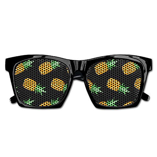 Elephant AN Themed Novelty Summer Colorful Pineapple Fashionable Visual Mesh Sunglasses Fun Props Party Favors Gift Unisex by Elephant AN