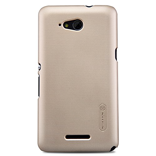 Sony Xperia E4G Case, Super Frosted Shield with Screen Protector Film , Retail Packaging,Golden