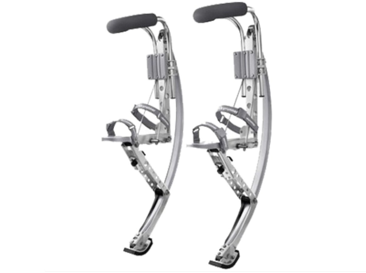 Adult Kangaroo Shoes Men Jumping Stilts Men Women Fitness Exercise (110~150 Ibs/50~70kg) Bouncing shoes (silver)