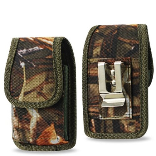 Vertical Canvas Hunter Camo Case with Velcro closure with belt clip and belt loop for AT&T Alcatel Cingular Flip 2