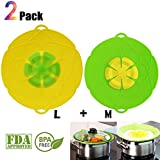 'Spill Stopper Lid Cover Boil Over Safeguard,Silicone Spill Stopper Pot Pan Lid Splatter Guard Screens Steam Rack Pot Holder, Multi-Function Kitchen Cooking Tool' from the web at 'https://images-na.ssl-images-amazon.com/images/I/514QFpOX7FL._AC_SR160,160_.jpg'