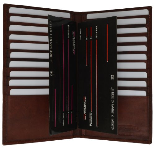 Credit Card Organizer Wallet for Women with 20+ card Slots by Marshal Credit Card Checkbook Wallet