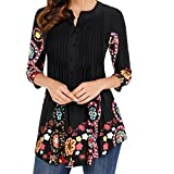 #8: Forthery Women Blouse 3/4 Sleeve Floral Tunic Tops Summer Shirts Clearance Sale