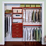 John Louis Home Premier Red Mahogany 4-drawers Closet Organizer