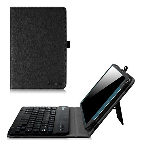 Fintie Samsung Galaxy Tab A 8.0 (2015) Keyboard case, Slim Fit Folio PU Leather Case Cover with Detachable Magnetical Bluetooth Keyboard For Tab A 8.0 inch Tablet(NOT Fit 2017 Tab A 8.0), Black (Tablet Case Bluetooth)