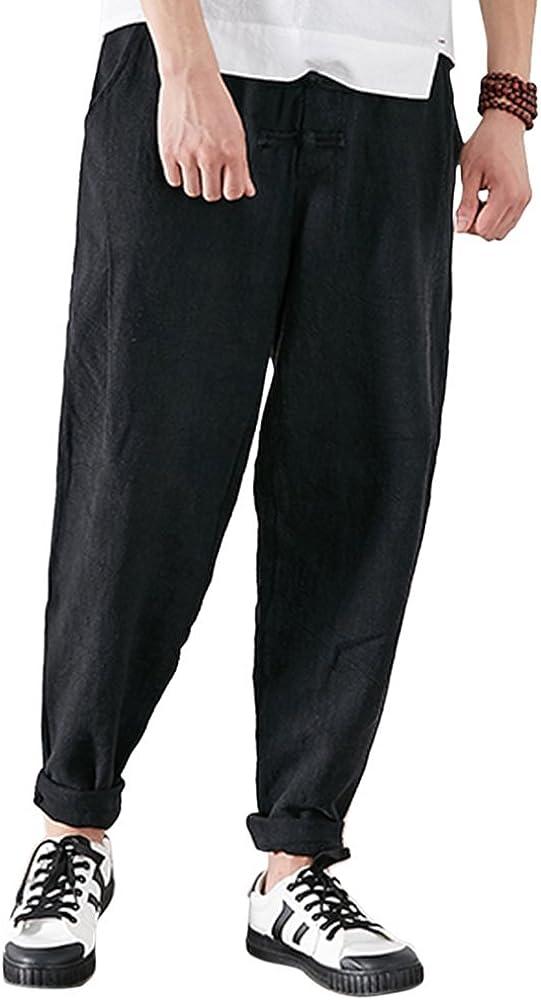 Zhuhaitf Casual Baggy Harem Pants Aladdin Pantalones Bombachos-Hombre Mujer Plus Size Verano Yoga Pantalones, Transpirable Algodón Lino: Amazon.es: Ropa y accesorios