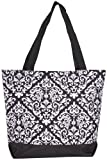 Best Ever Moda Baby Evers - Ever Moda Black Damask Tote Bag, Large 17-inch Review