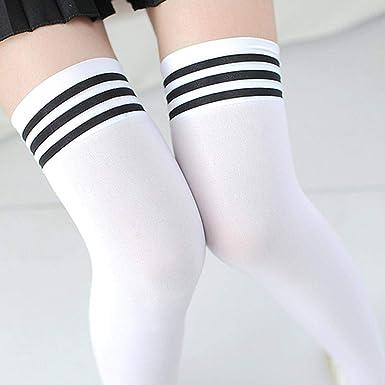 POPULAR TERMICA 1 Paio Moda coscia alta sopra al ginocchio calzini Ragazze Da Donna Nuovo