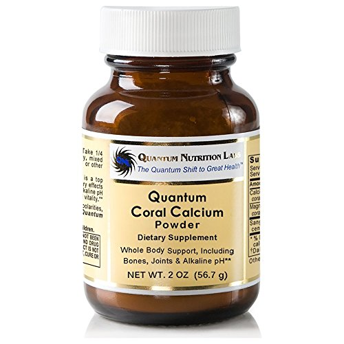 Quantum Coral Calcium Powder, 4oz (88 Servings) (2 Bottles) Premier Research Coral Legend - Ideal Whole Body Support, Especially for The Bones, Joints, Teeth and an Alkaline pH
