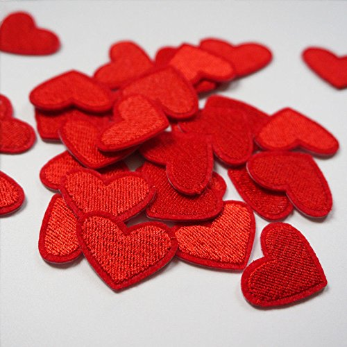 CAOLATOR.10 unids Parches de Amor Coraz/ón Rojo Peque/ños Pegatinas para Bordado//Insignia//Parche para Coser para Apliques en Bolsas//Chaquetas//Hojas//Manteles