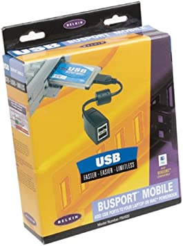 Belkin USB Busport Mobile PCMCIA Card Bus with 2-USB Ports