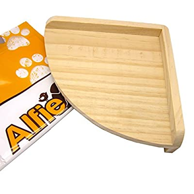 Alfie Pet by Petoga Couture - Nick Wood Corner Platform for Small Animals (Living Habitat for Mouse, Chinchilla, Rat, Gerbil and Dwarf Hamster)