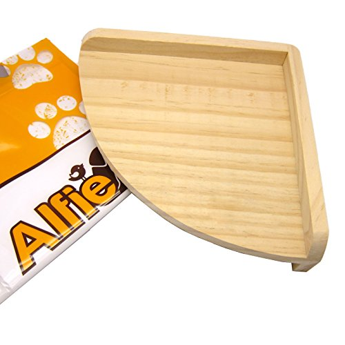 Alfie Pet by Petoga Couture - Nick Wood Corner Platform for Mouse, Chinchilla, Rat, Gerbil and Dwarf Hamster