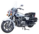 Aoshima Models AOS-003312 Kawasaki Police 1000 Window Shield Type Motorcycle Model Building Kit, 1/12 Scale