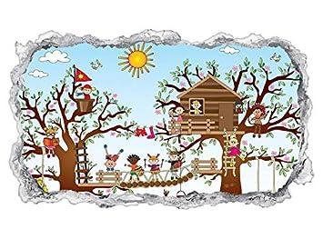 3D Wandtattoo Kinderzimmer Cartoon Kinderspielplatz Kinder ...