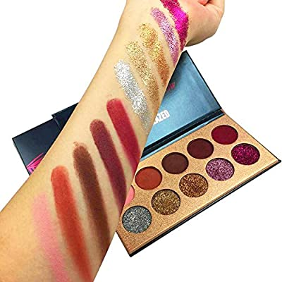 Beauty Glazed Eyeshadow Palette Ultra Pigmented Mineral Pressed Glitter Make Up Palettes Flash Colors Long Lasting Waterproof