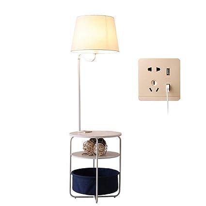 luodideng Soporte de lámpara de piso de madera maciza + sofá ...