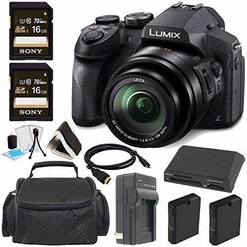 Panasonic Lumix DMC-FZ300 Digital Camera + 16GB Green's Camera Bundle 7