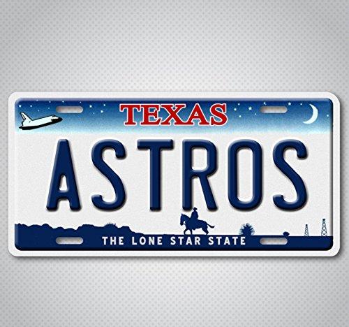 Houston Astros Sign - Houston Texas ASTROS World Series 2017 Champions Baseball Team License Plate Tag
