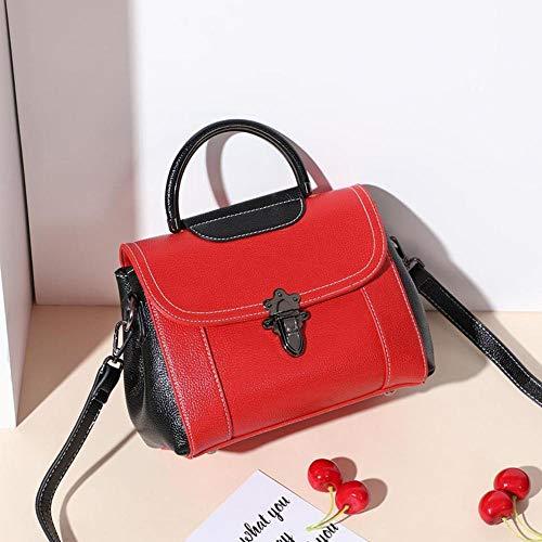 Femenina del Bandolera 18 de Cruz de Oblicuo YT Mujer Bolso 11 Red Hombros Bolsos Cuero 25 cm Solo Y wEPq74f