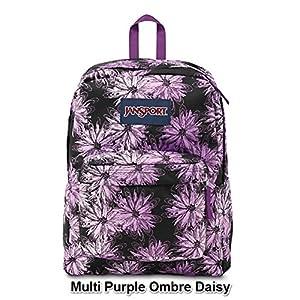 JanSport Superbreak Multi Print School Backpack B1024: Multi Purple Ombre Daisy