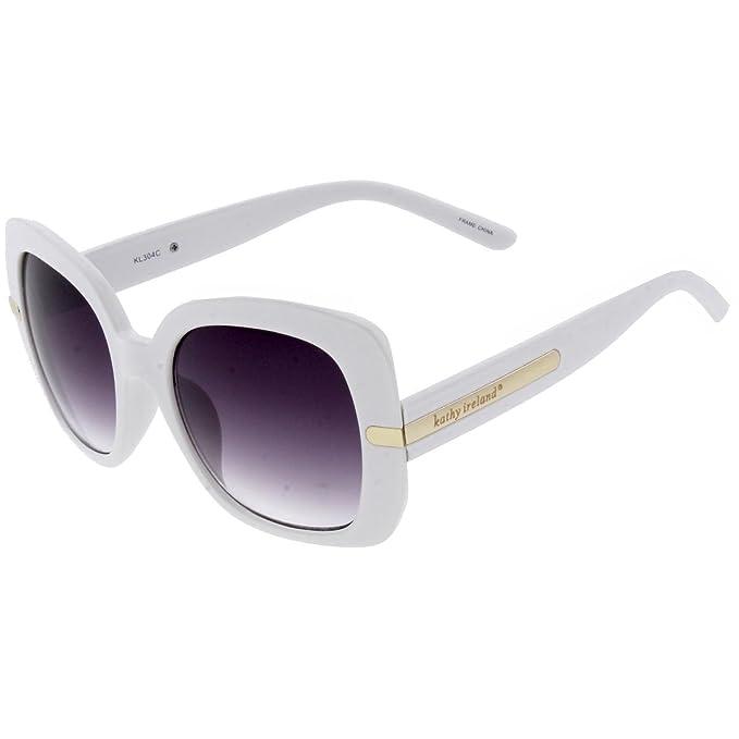 Amazon.com  Kathy Ireland Womens Oversized Fashion Square Sunglasses ... a90c2a069