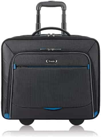 Solo Active 16 Inch Rolling Overnighter Case with Padded Laptop Compartment, Black