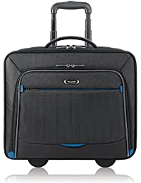 Active 16 Inch Rolling Overnighter Case with Padded Laptop Compartment, Black