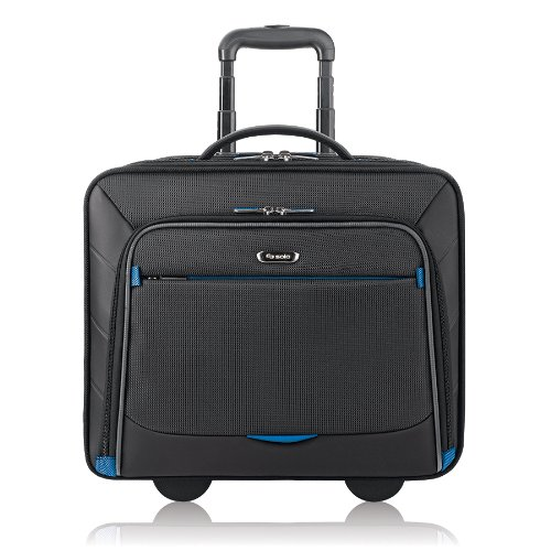 Solo New York Active Rolling Overnight Laptop Bag.  Business Travel Rolling Overnighter Case for Women and Men. Fits up to 16 inch laptop - Black