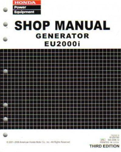 61Z0700E7 Honda EU2000i Generator Shop Manual