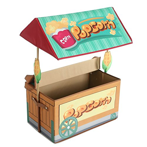 [Polyester Lemonade Stand Toy Chest Storage Bins, Popcorn Toy Box Organizer for Kids Playroom, Gift] (Car Costume Cardboard Box)