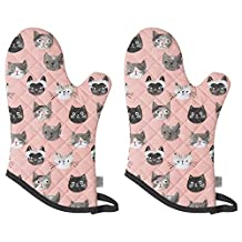 Now Designs Basic Oven Mitts, Set of Two, Cats Meow (805889aa)
