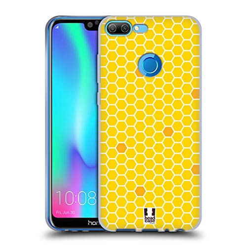 Head Case Designs Honey Comb Busy Bee Patterns Soft Gel Case for Huawei Honor 9N (9i)