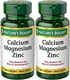 Nature's Bounty Calcium-Magnesiuim-Zinc, 100 Caplets (Pack of 2)