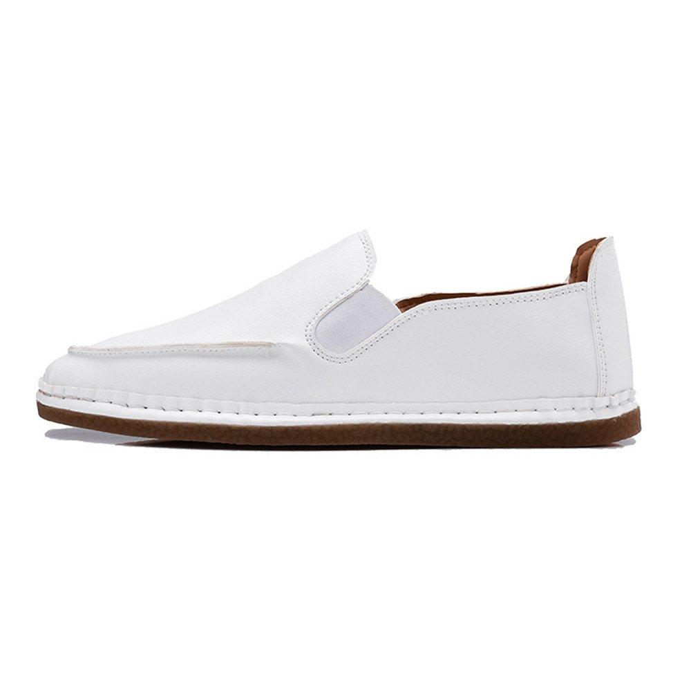 Zapatos Ocasionales Respirables Retros Masculinos del Estilo británico de la Primavera 41 1/3 EU|Blanco