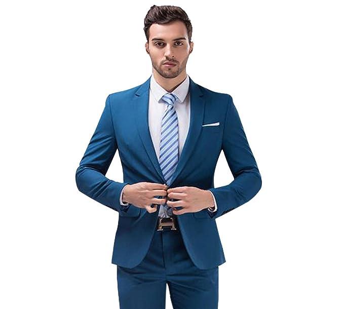 AK belleza para hombre traje de boda para 2 piezas un botón Business para hombre  Trajes 5a7bb8be95ae