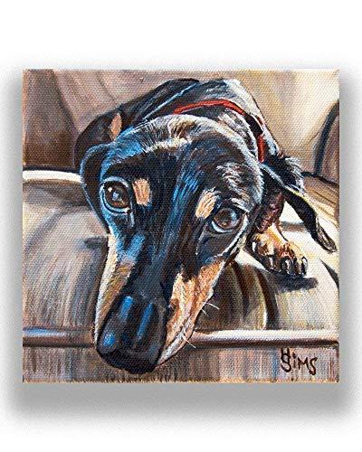 Dachshund Dog Art Giclee Print Animal Artwork Gallery Wall Decor, mat option