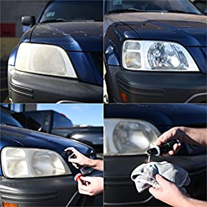 Headlight Restoration Kit For all makes and models, restore headlights with abrasive rubbing compound eliminate yellow dull or foggy headlights. Clean to restore visibility and add clarity. trinova