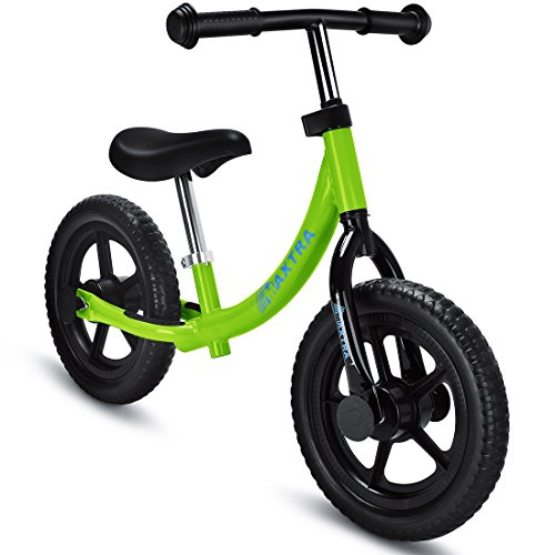 Maxtra Lightweight Balance Bike No Pedal Bicycle Adjustable Handlebar and Seat For Ages 2 to 5 Year old Green by Maxtra