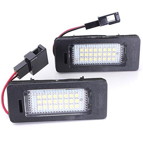 license plate lamp led white light for audi a4 a5 q5 s5 tt B07F5Z2PQC