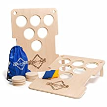 Bru-Bag: Cornhole meets beerpong Indoor/Outdoor Yard Game